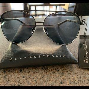 Quay Australia Aviator Sunglasses NWT
